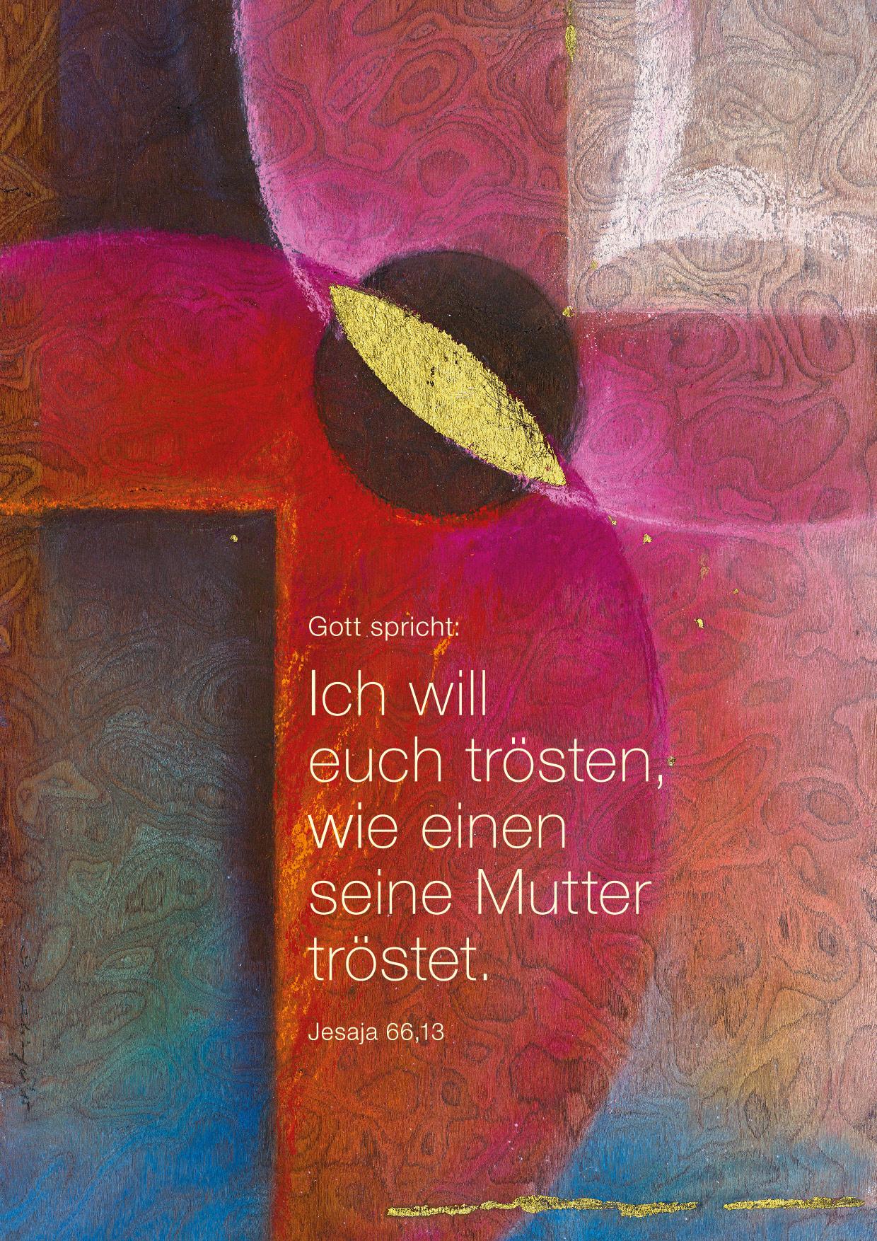Jahreslosung im Verlag am Birnbach - Motiv von Stefanie Bahlinger, Mössingen