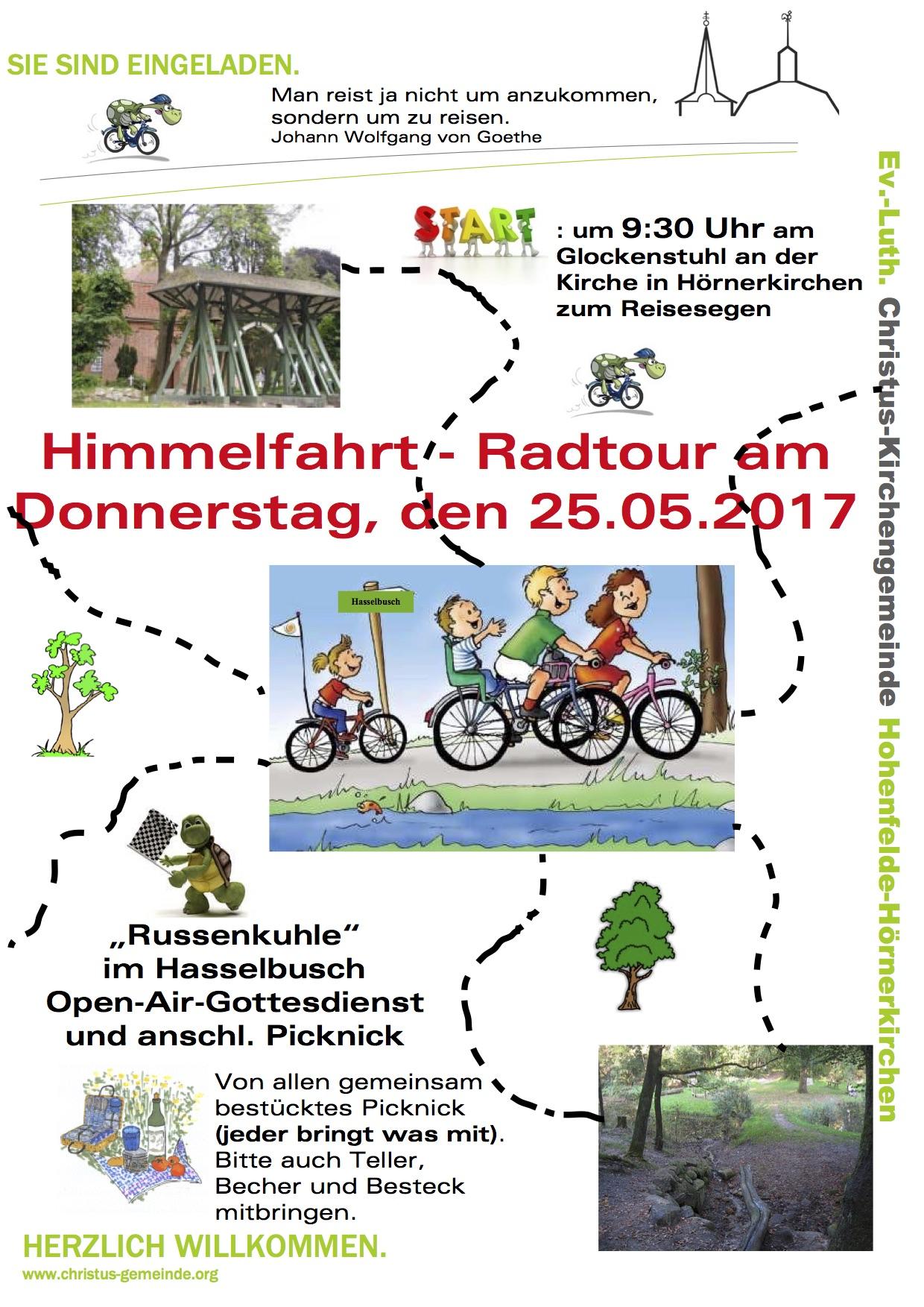 Himmelfahrt-Radtour am 25.5.2017