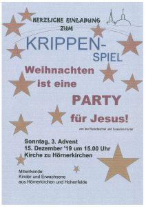 Krippenspiel in Hörnerkirchen @ Kirche zu Hörnerkirchen