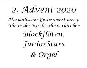 Musikalischer Gottesdienst zum 2. Advent @ Kirche zu Hörnerkirchen